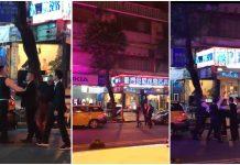 台灣治安好差, 黑道在大街上叫囂打架還開槍 ?這是在拍電影啦!