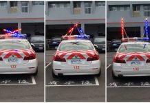 國道警車 車頂上的警示燈是U型 ,要讓出車道?真的有這款警示燈嗎?