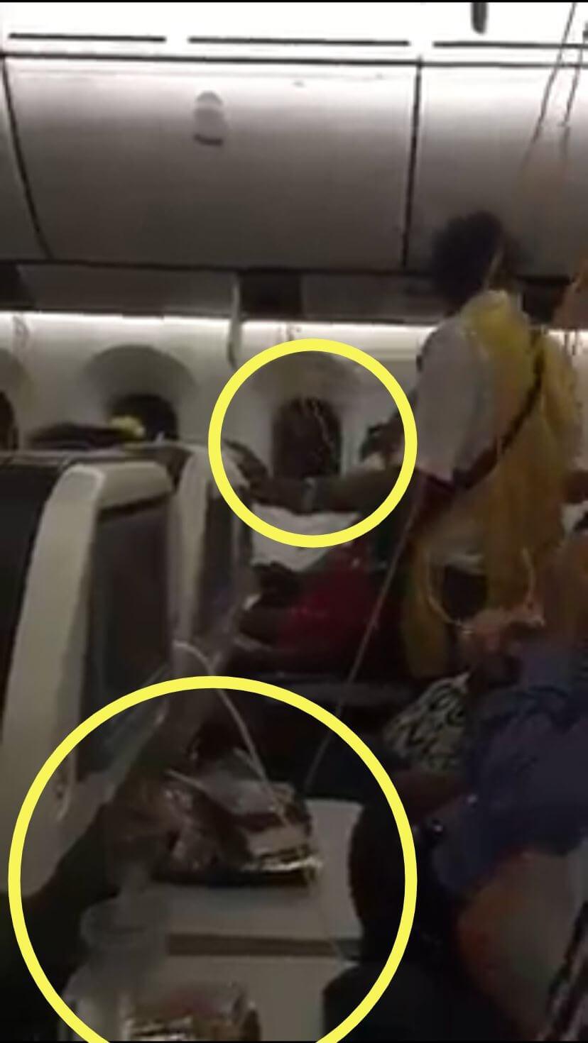 漆黑的窗外和用餐過的餐盤都不符合衣索比亞航空空難的狀況。
