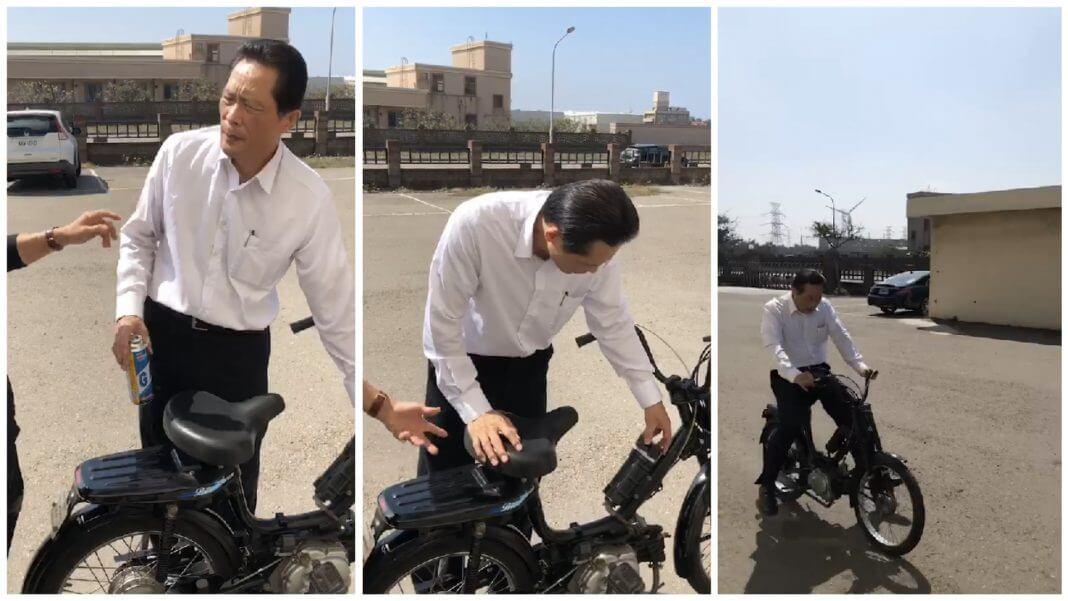 台灣 最新發明36cc小瓦斯脚踏車 ,免掛車牌超棒?十幾年前就有了!