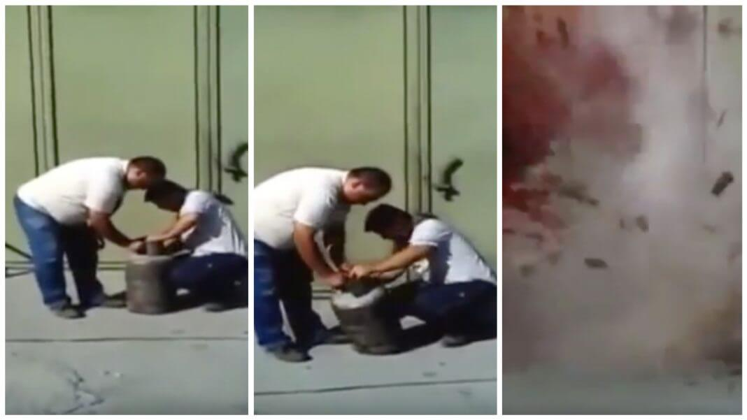 網路瘋傳瓦斯桶爆炸影片,還說「 瓦斯桶千萬不要敲 ,不要搖」,是真的嗎?