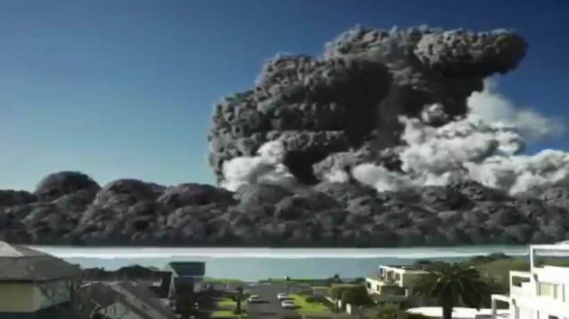 別再傳啦!LINE群組分享的蘇門答臘 錫納朋火山爆發 影片,是假的!