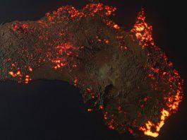 NASA拍到澳洲野火(圖翻攝自Anthony Hearsey臉書)