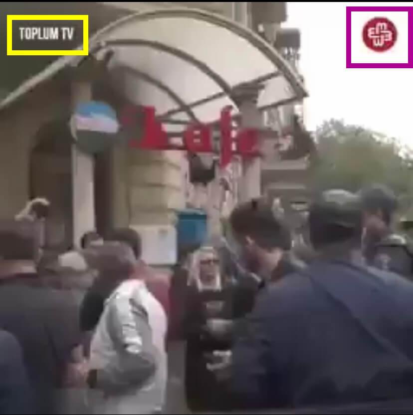 影片上的浮水印,說明影片來源為亞塞拜然共和國的媒體。