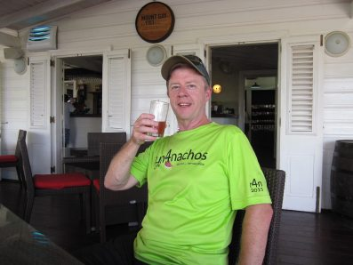 Barbados, Doug enjoying a rum!