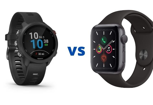 Garmin Forerunner 245 vs Apple Series 5 Smartwatch