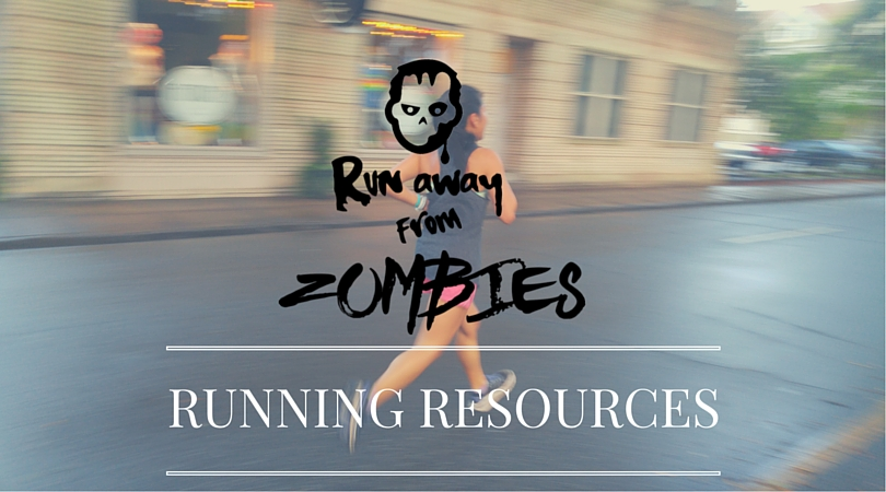 Run away from zombies Running resources