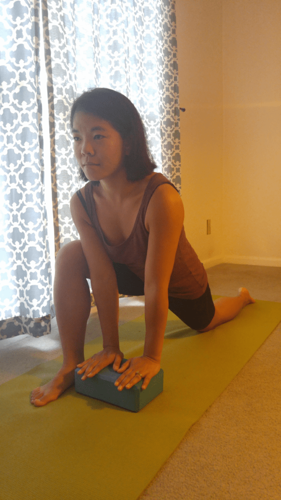 Yin Yoga for Runners Lizard Pose