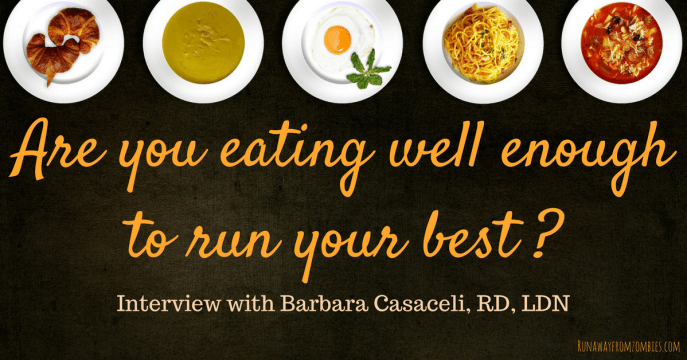 Are you eating well enough to run your best? I asked Barbara Casaceli, Triathlon Coach and Registered Dietitian, how we can best fuel our runs, lose weight, and perform our best. Are you doing these simple things to benefit your races and your health?