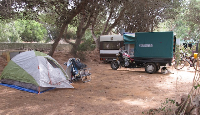 Camping in Southern Spain