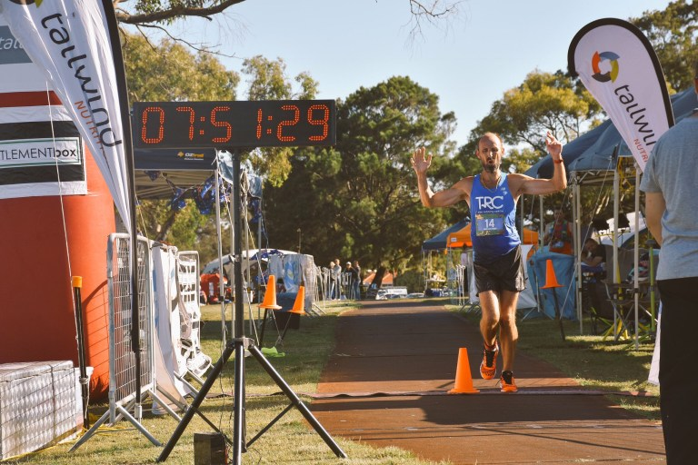 Australia Day Ultra 100k. Setting a new AURA record , 7 hours 47 minutes; and a win to top of a perfect day.