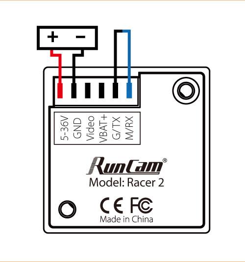 Runcam Racer 2 CMOS 700TVL 4:3 Super WDR Micro Camera