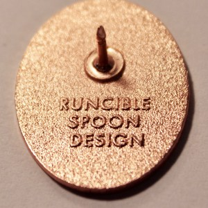 Runcible Spoon Pin Back