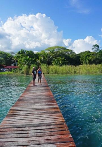 Erster Blick auf die Lagune ...