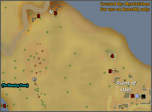 Ruins of Uzer  RuneScape Guide  RuneHQ