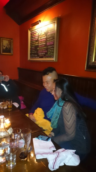 The bday boy and girl at the pre-race dinner