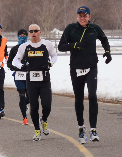 I was behind the guy with the sunglasses, I was bundled up like running ninja. - photo from GLIRC website