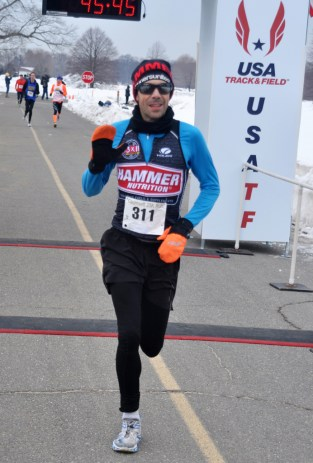 Zandy Mangold got 2ns place overall for 25k- photo from GLIRC website