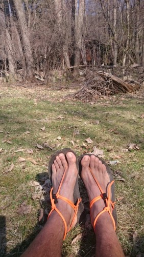 Finally I could took off my smelly shoes and let my feet breath on my Glad Soles sandals made of recycle tire.