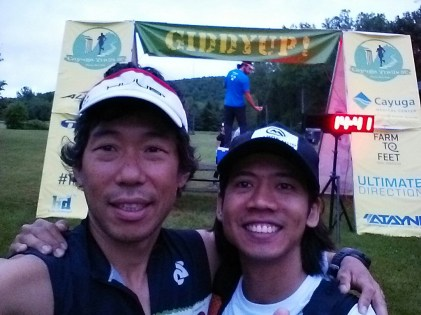 Chang and I at the starting line. - photo by Chang