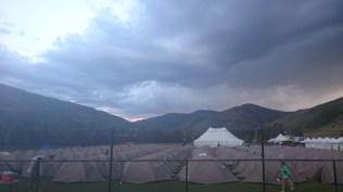 We got rain that night