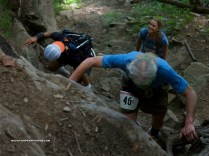Geesler in front of me and Mendy happily waiting for us - Photo by Mountain Peak Fitness