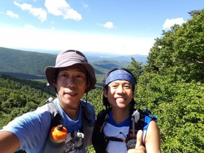 Chang and me at the edge of the ridge - Photo by Chang