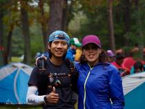 With my coach Elizabeth Azze - photo by Joe Azze (Mountain Peak Fitness)