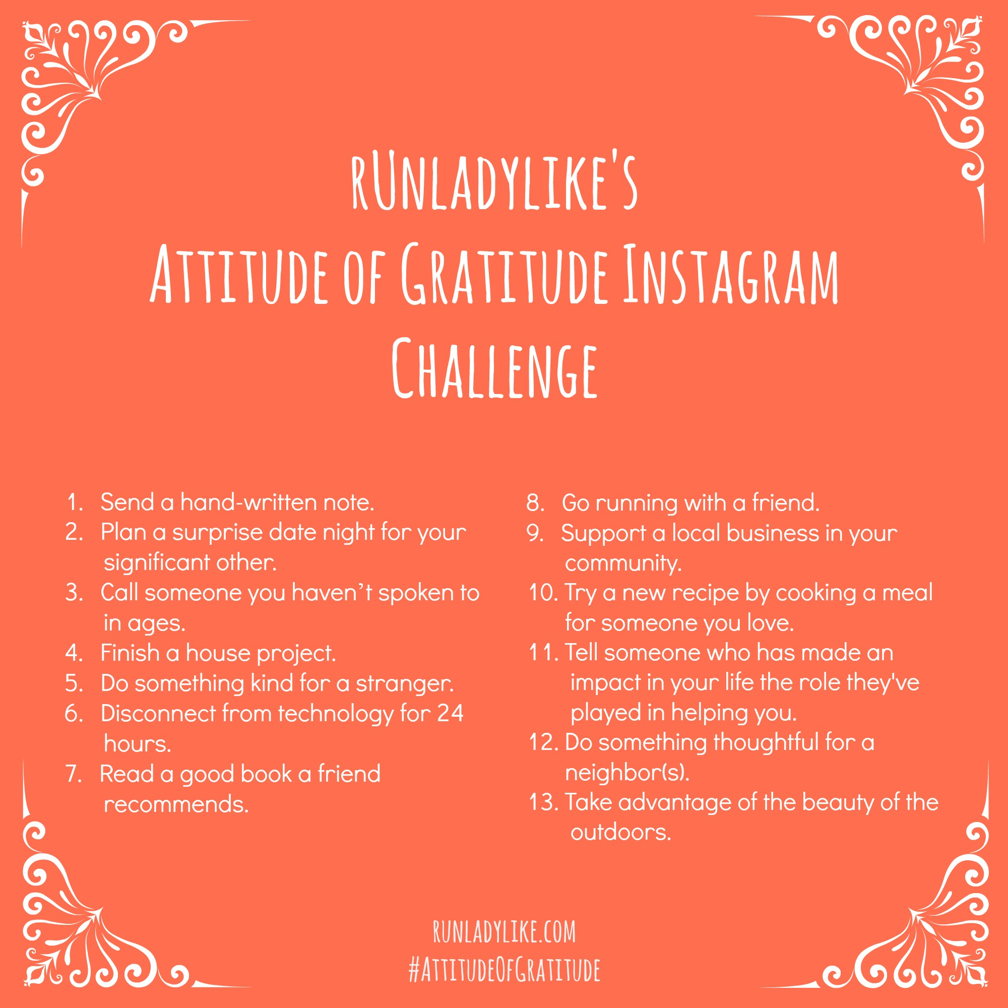 Attitude Of Gratitude Instagram Challenge 13 Things To Do