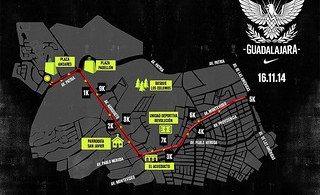 Ruta de la carrera Nike We Run Guadalajara 2014