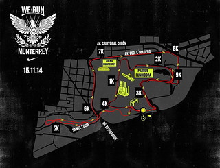 ruta we run monterrey 2014 entrega de paquetes