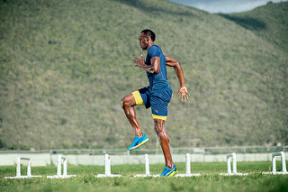 usain bolt training zapatos ignite XT entrenamiento