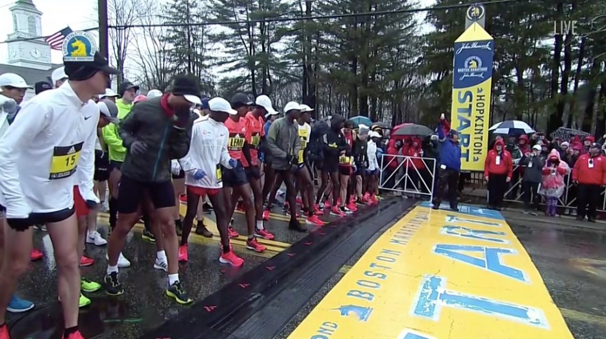 atletas maraton boston 2018