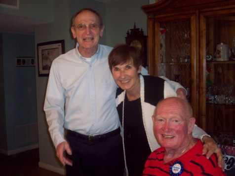 Tom McCrudden (Owen's brother), Katie Quinn, Owen McCrudden on his 80th birthday