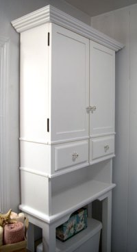 The RunnerDuck Bathroom Cabinet plan, is a step by step