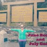 June Recap and July Goals