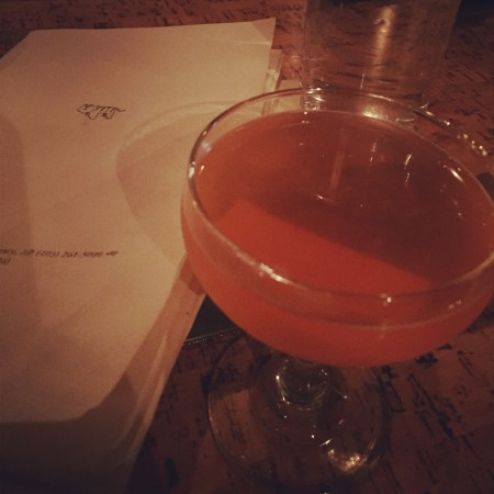 the Nomayo - gin, aperol, St. Germain, lemon juice, sparkling wine