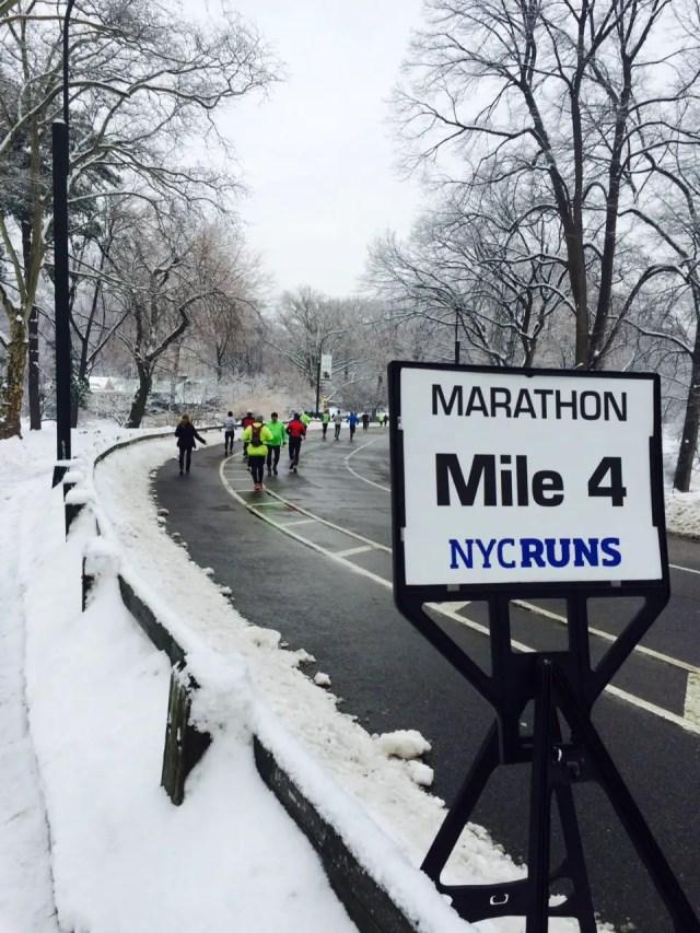 le marathon de central park organisé par le new york running club