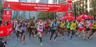 le marathon de toronto 2016 waterfall au canada