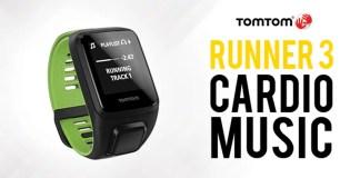 TomTom Runner 3 Cardio Music : Montre GPS multifonction