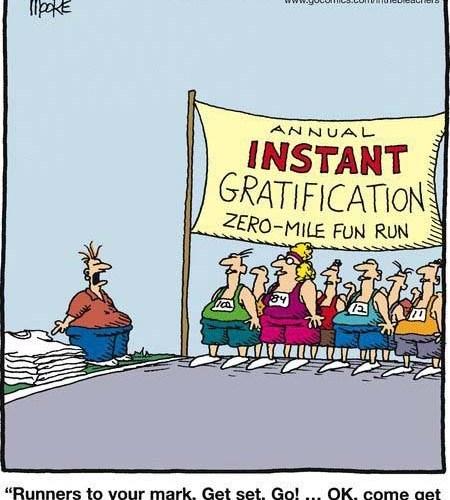 Instant Gratification & Endurance Sport