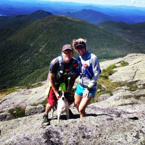 John and I with our dog Pace at the dog of Algonquin mountain in the Adirondacks, off Lake Placid, NY.