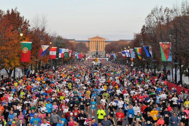 Starting Line of the Philadelphia Marathon