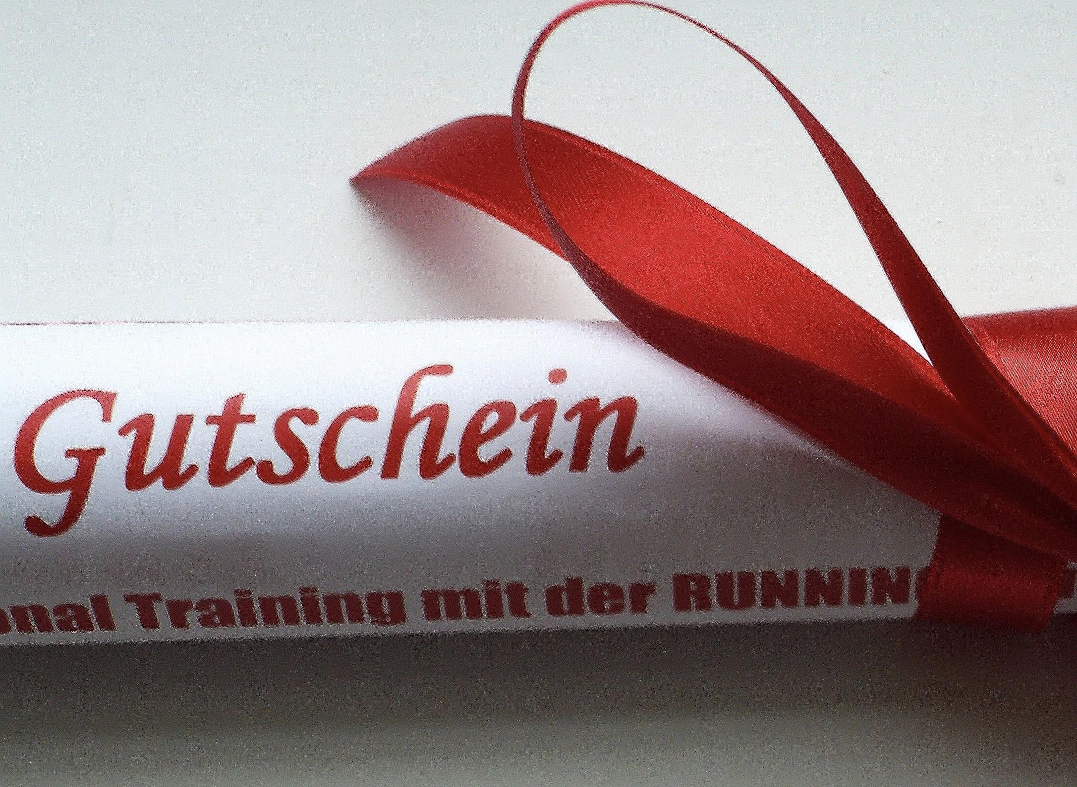 Der RUNNING Company Geschenk-Gutschein zum Fest