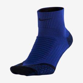 Calcetin Nike Elite Running 1/4 color azul con acolchado