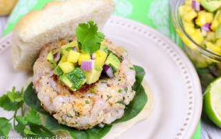 Recipe for Shrimp Burger with Mango Avocado Salsa