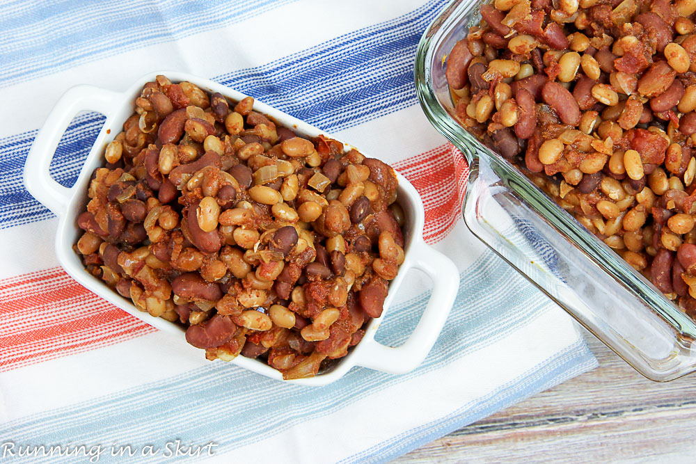 Crock Pot Vegetarian Baked Beans