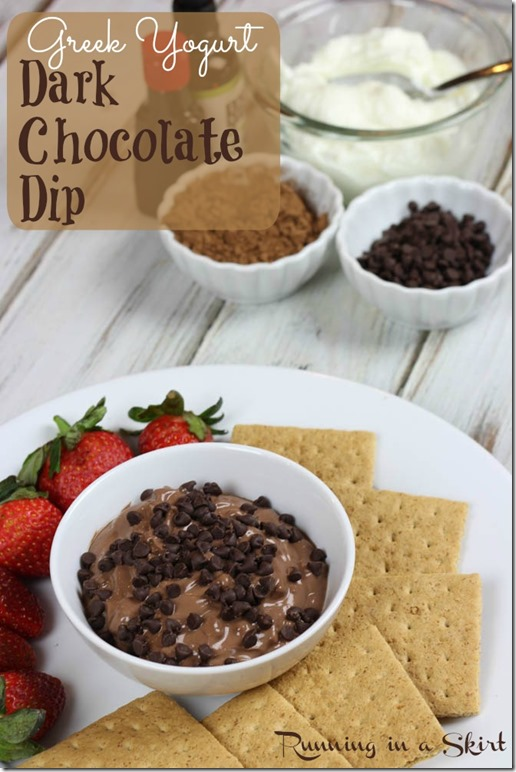 Dark Chocolate Greek Yogurt Dip pin