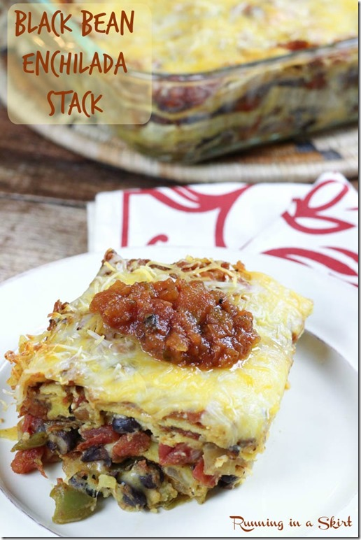 black bean enchilada bake pin