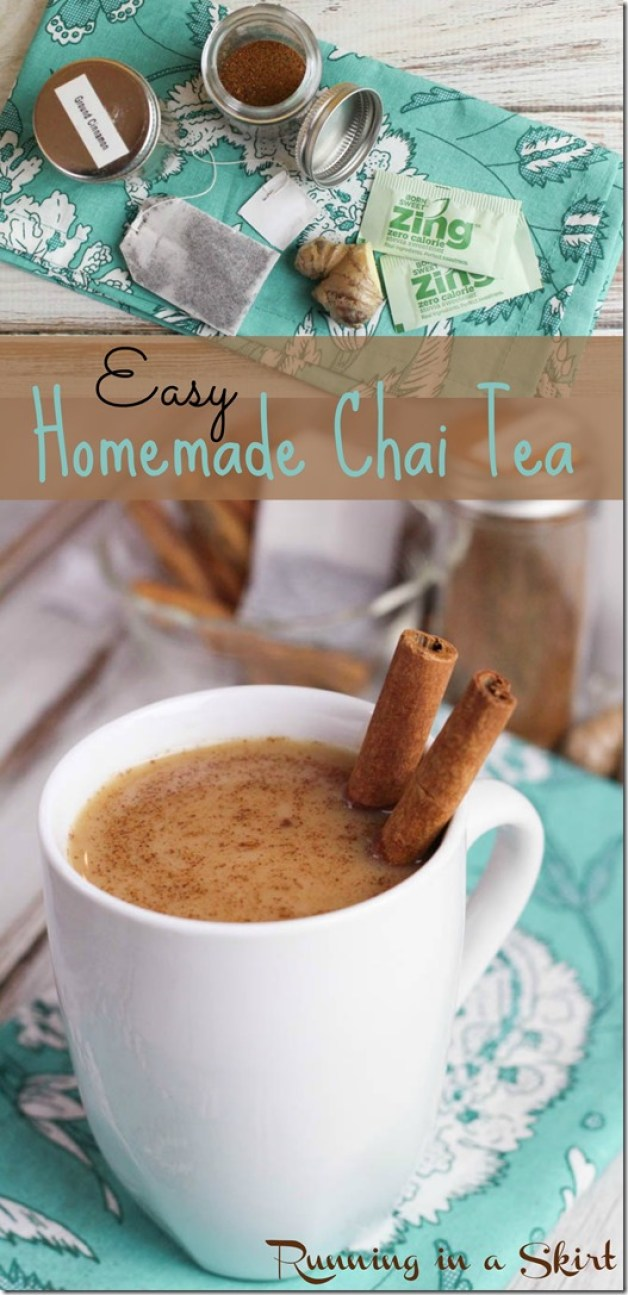 Easy Chai Tea Recipe Zing Stevia Sweetener Pin